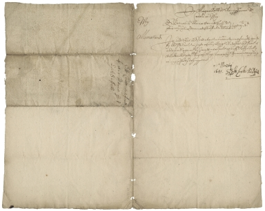Memorandum from Henry Crooke certifying double payment of debt by the Earl of Suffolk