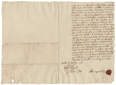 Acquittance from George Mabbancke of St. Nicholas, Guildford, Surrey to John Hill of Worplesdon, Surrey