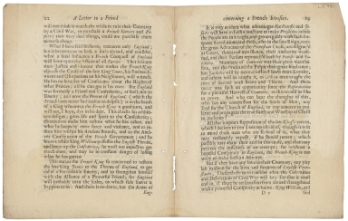 Sherlock, William, 1641?-1707. A letter to a friend, concerning a French invasion, to restore the late King James to his throne ... 1692