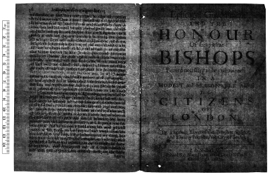 Zealous lover of the Protestant religion and a hearty friend to the city of London. Episcopal government and the honour of the present bishops proved necessary to be maintained : in a modest and seasonable address to the citizens of London 1679