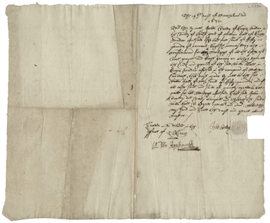 Acquittance from John Crawley of King's Walden, Hertfordshire, to William Hale of King's Walden, Hertfordshire