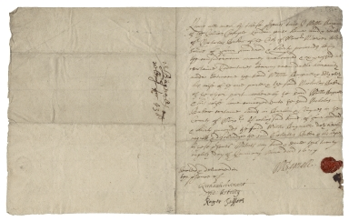 Acquittance from William Bagnall of the Inner Temple, London, to Nicholas Baker, mercer, of the city of Worcester