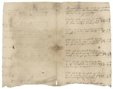 Accounts of William Crone, senior, for Berry Farm and repairing of brick bridge