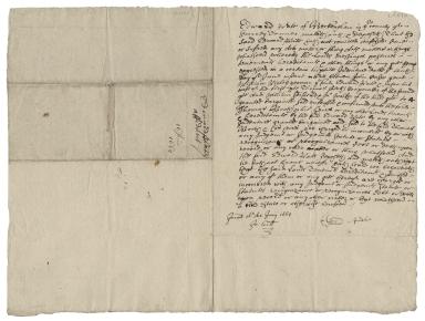 Affidavit of Edward Pate, tanner of Beckengham, Surrey