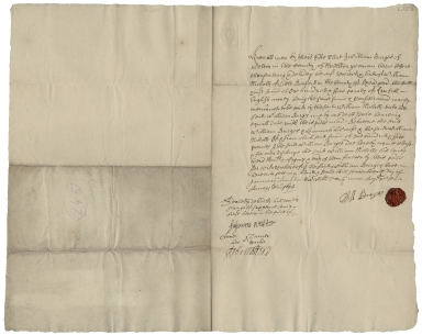 Acquittance from William Burges of Weston, Northamptonshire, to William Nicholls of Little Barford, Oxfordshire