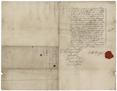 Acquittance from John Deye of the Inner Temple, London, to Robert Paunceforte of Gray's Inn, Middlesex