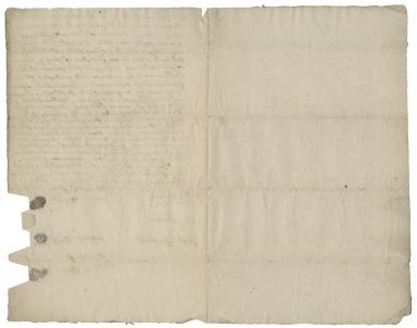 Acquittance from Mary Wynds, Margrett Wynds, and Elizabeth Wynds to William Willard, haberdasher of Ipswich, Suffolk