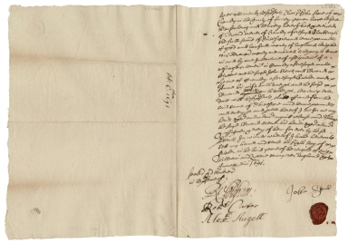 Acquittance from John Stone of Cranley, Surrey, to Edward Mercer of Cranley, Surrey