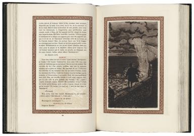 [Hamlet. French] Hamlet : drama en 5 actes / Shakespeare ; traduction de Georges Duval ; bois et eaux-fortes originales de Georges Bruyer.