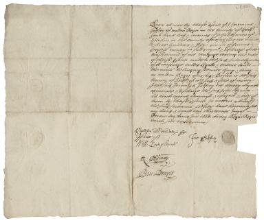 Acquittance from Jeremiah Godfrey of King's Walden, Hertfordshire to John Skynner of Hitchin, Hertfordshire