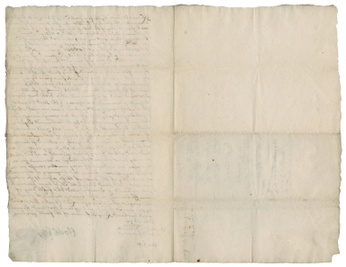 Acquittance from Elizabeth Hyde of Herriard, Southampton to her brother Nathaniel Hyde