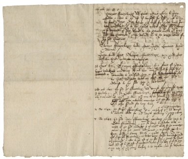 Abstract of title for lands belonging to the Fairclough family 16 October 35 Henry VIII (i.e. 1543)-1 May 1652