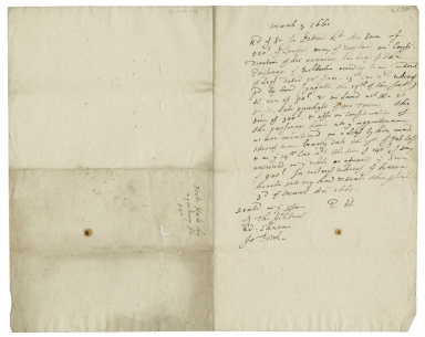 Acquittance from Doctor Hale to Sir John Pettus