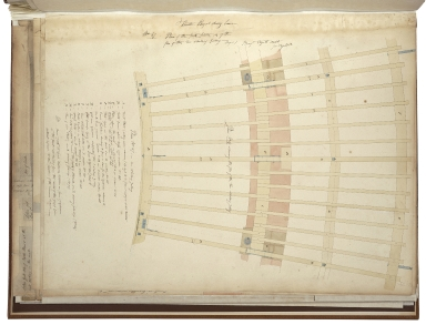 Architect's plans for the rebuilding of Drury Lane Theatre.