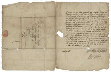 Autograph letters signed and initialed from Lydia DuGard to Samuel Dugard