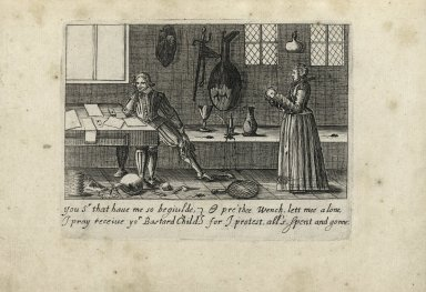 [English customs. 12 engravings of English couples with verses]