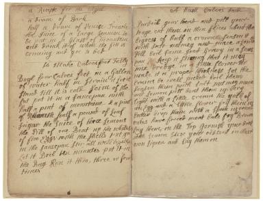 Receipt book of Sarah Longe [manuscript].