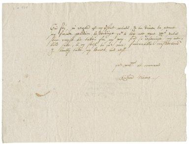 Letter from Richard Turner to Walter Bagot