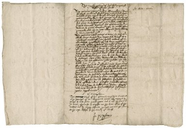Petition from John Foster to Sir John Popham, Lord Chief Justice, concerning Robert Guybon, Gen.t