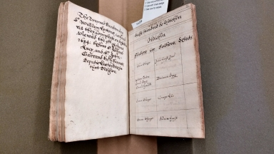 A booke of the trayned bands of Sir John Lukes and Sir William Lyttons companies in the countie of Hertford anno domini 1634 [manuscript], 1634.