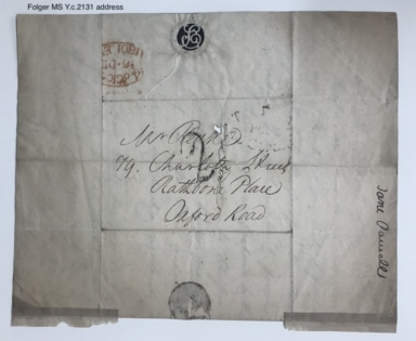 Autograph letter signed from Jane Powell to Richard Peake, London [manuscript], 1801 December 16.