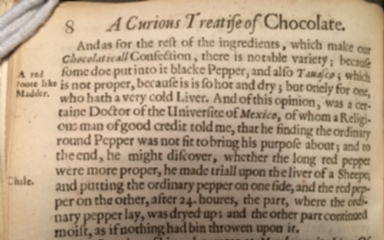 A curious treatise of the nature and quality of chocolate. VVritten in Spanish by Antonio Colmenero, doctor in physicke and chirurgery. And put into English by Don Diego de Vades-forte.