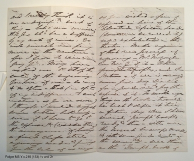 Autograph letter from Edwin Booth, St. James Hotel, Boston, to Henry L. Hinton, 19th century November 5