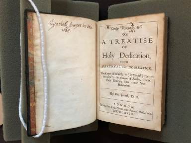 Osios 'egkainismos. Or A treatise of holy dedication, both personal and domestick. : The latter of which, is (in special) recommended to the citizens of London, upon their entring into their new habitations. By Tho. Jacomb, D.D.