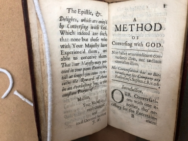 A method of conversing with God. : Translated out of French by J. W. of the Society of Jesus.