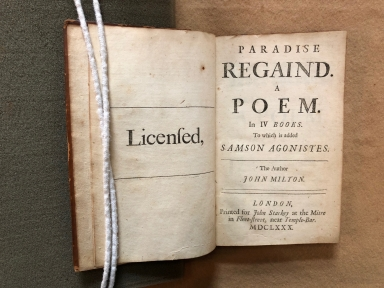 Paradise regain'd. : A poem. In IV books. To which is added Samson Agonistes. The author John Milton.