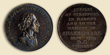 A Shakespeare Jubilee medallion