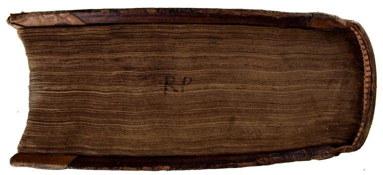 Manuscript initials of former owner - Richard Peever His Booke...1678 (detail), STC 9318.