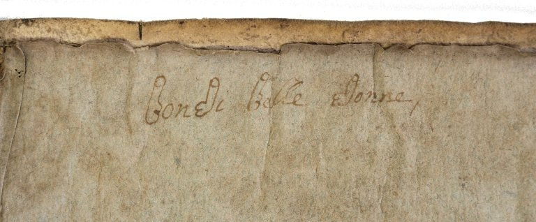 inscription on back paste-down