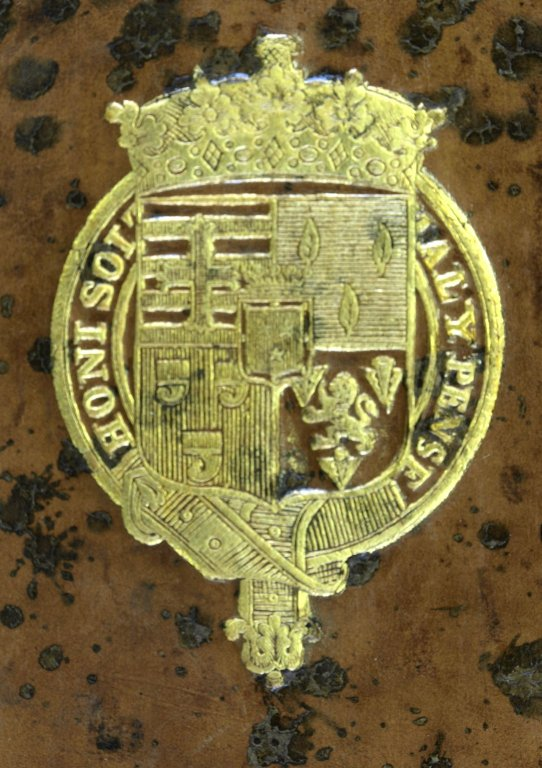 Coat of arms (detail), DG539 E9 A3 cage.