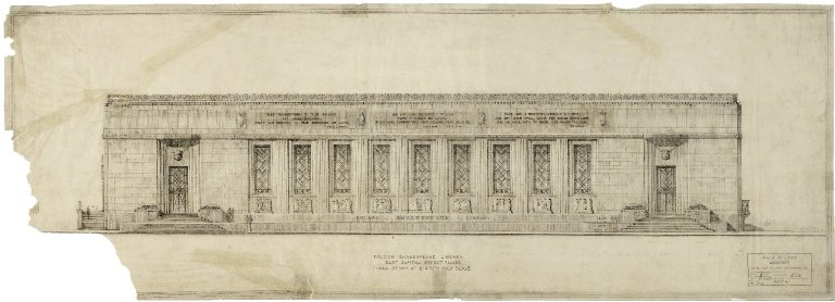 East Capitol Street facade, Final study at Eighth- inch scale