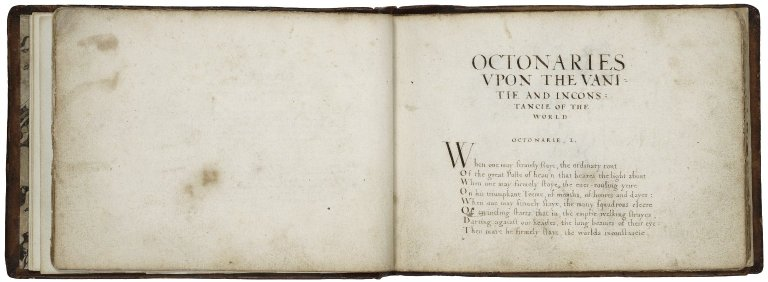 Octonaries upon the vanitie and inconstancie of the world