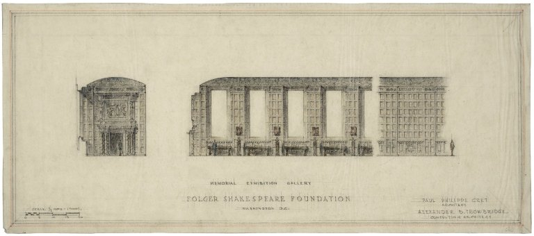 "Architectural Drawing of Proposed Elevation: Memorial Exhibition Gallery; no.6. 24.5""x11"""