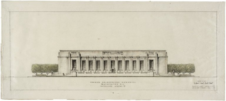 "Architectural Drawing of Proposed Elevation: [E. Capitol St.] Elevation Scheme A. 24""x10.5"""
