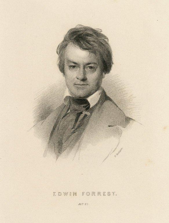 Edwin Forrest, aet. 21 [graphic] / F. Halpin [sculp.].