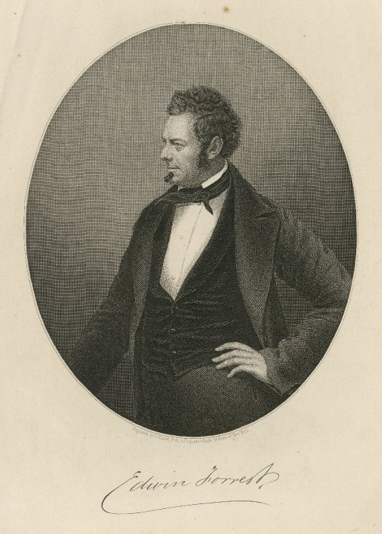 Edwin Forrest [graphic] / engraved by D. Pound from a daguerreotype by Root of New York.