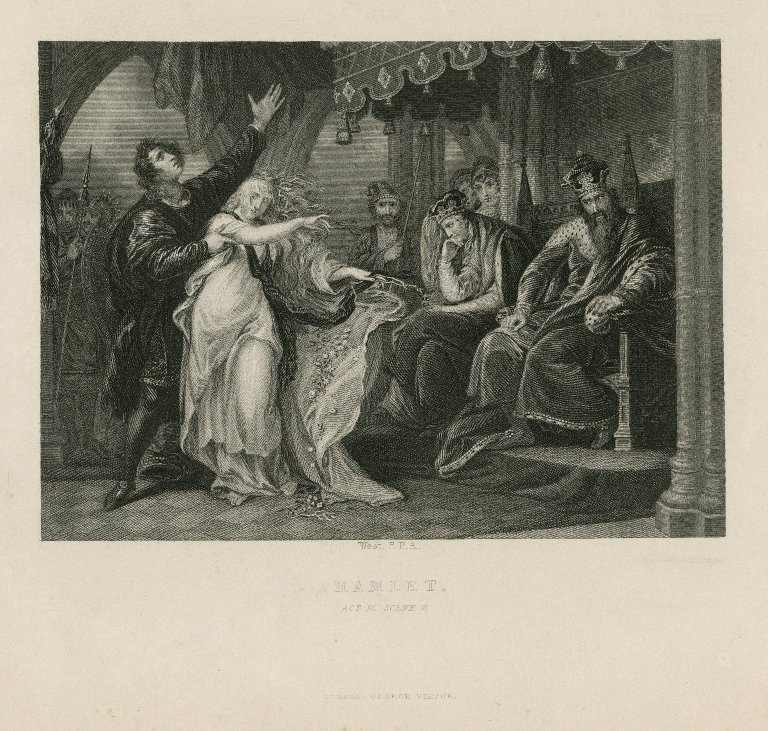 Hamlet, act IV, scene v [graphic] / West, P.R.A.