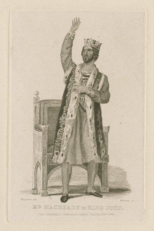 Mr. Macready in King John [in Shakespeare's King John] [graphic] / Wageman, del. ; Woolnoth, sc.
