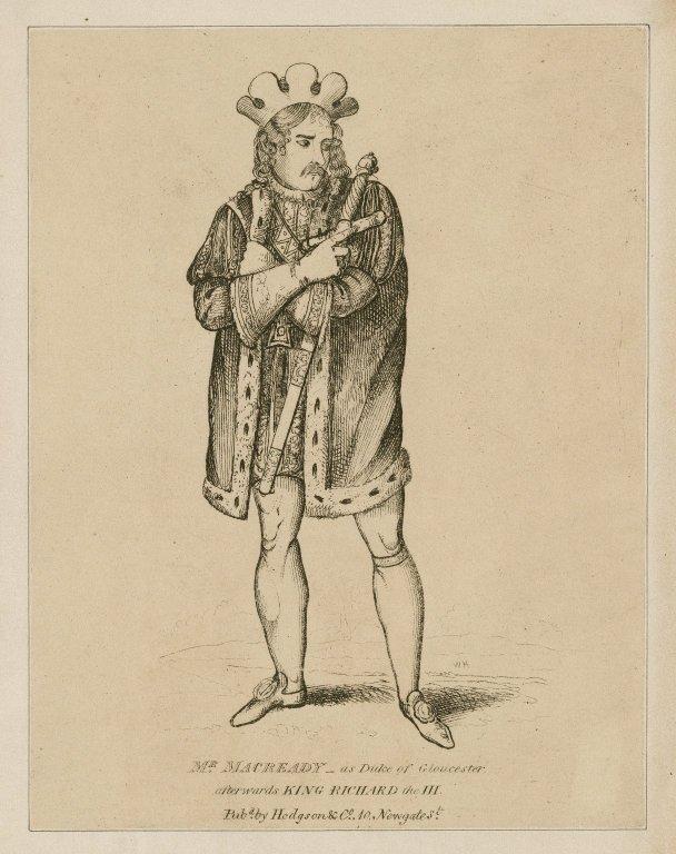 Mr. Macready as Duke of Gloucester, afterwards King Richard III [graphic] : in Shakespeare's play Richard III / W.H.