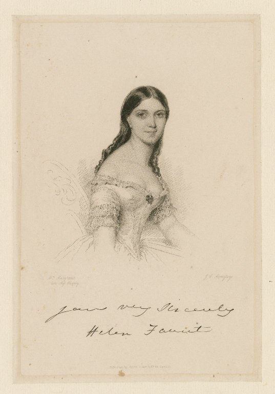 [Helena Saville Martin] Yours very sincerely Helen Faucit [graphic] / Mrs. Murgrave, late Miss Heaphy ; J.C. Armytage.