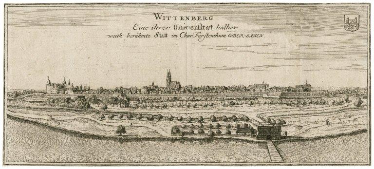 Wittenberg : [graphic] eine ihrer Universita[e]t halber weith berümhte Statt im Churfürstenthum Ober-Saxen / [Gabriel Bodenehr].