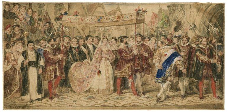 King Henry VIII, IV, 1, the coronation procession of Anne Boleyn [graphic].