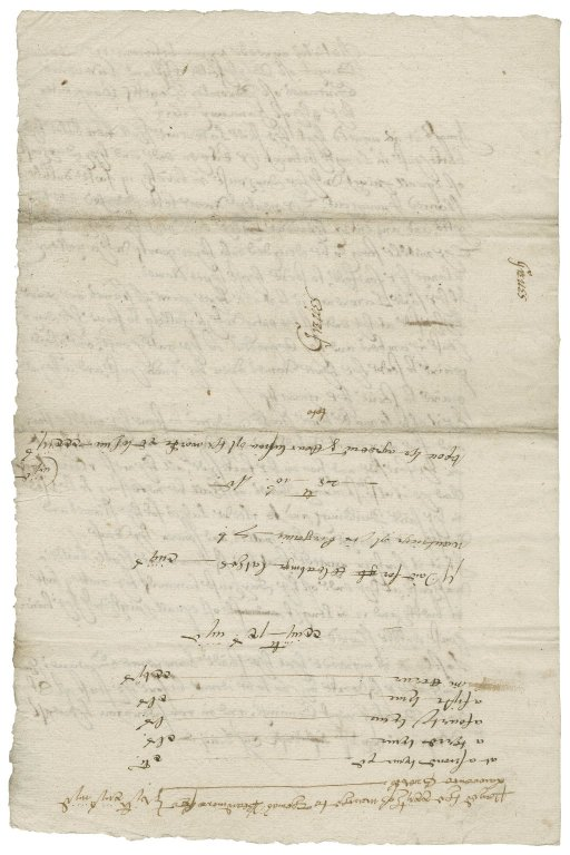 Articles of agreement between Walter Bagot and Laurence Greaves of Bromley Pagets, carpenter