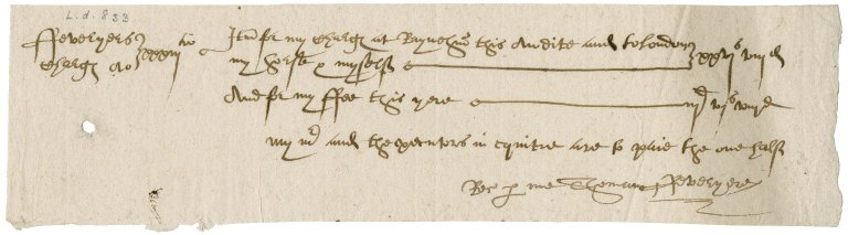 Receipted bill of Thomas Feveryere to Sir John Townshend