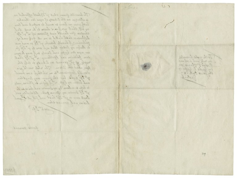 Autograph letter signed from John Donne to Sir Thomas Egerton [manuscript], 1602 February.