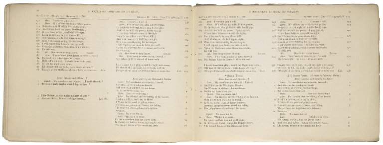 [Hamlet] A four-text edition of Shakspere's Hamlet : 1. quarto 1, 1603 -- 2. quarto 2, 1604 -- 3. folio 1, 1623 -- 4. a revized text : in parallel columns / edited by Teena Rochfort Smith.